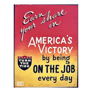 America's Victory By Being On The Job Every Day 21.5 Cm X 28 Cm Flyer