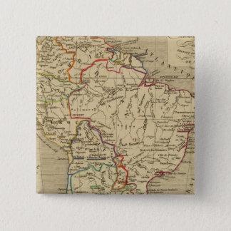 Amerique Meridionale en 1840 15 Cm Square Badge