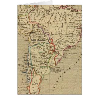 Amerique Meridionale en 1840 Card