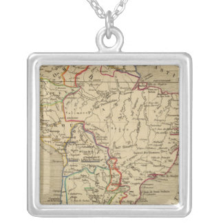 Amerique Meridionale en 1840 Silver Plated Necklace