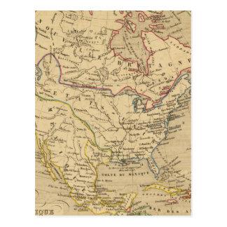 Amerique Septentrionale en 1840 Postcard