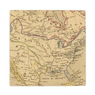 Amerique Septentrionale en 1840 Wood Coaster