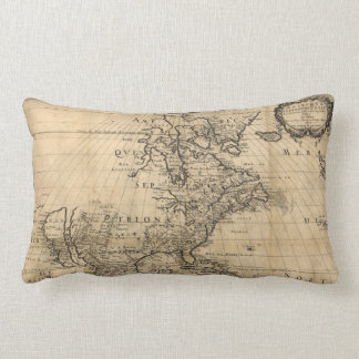 Amérique Septentrionale North America Map (1650) Lumbar Cushion