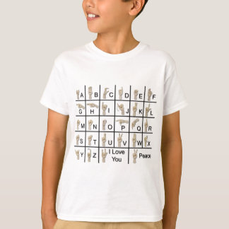 AmeslanAlphabet120710 T-Shirt