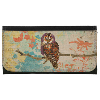 Amethyst & Amber Owl Wallet