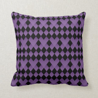 Amethyst and Black Pattern Design Throw Pillows