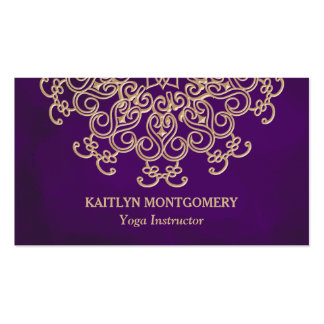 Amethyst and Gold Mandala Pack Of Standard Business Cards