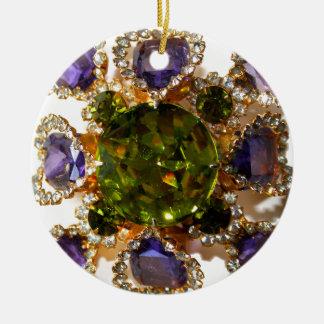 Amethyst and Peridot Christmas Ornament