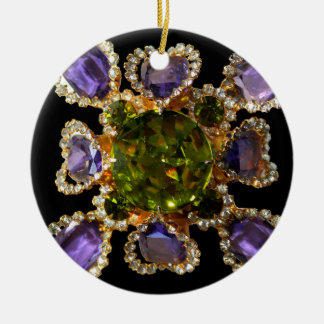 Amethyst and Peridot Christmas Ornament