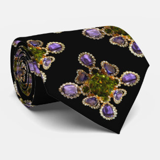 Amethyst and Peridot Tie