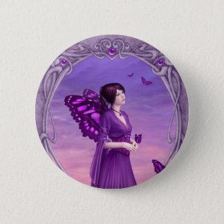 Amethyst Birthstone Fairy Button Badge