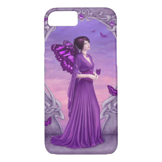 Amethyst Birthstone Purple Butterfly Fairy iPhone 7 Case