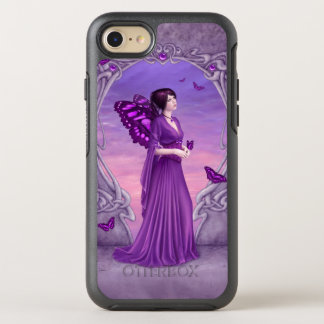 Amethyst Birthstone Purple Butterfly Fairy OtterBox Symmetry iPhone 7 Case