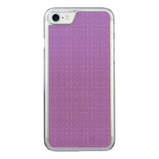 Amethyst calligraphic pattern carved iPhone 7 case