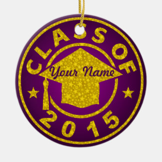 Amethyst Class Of 2015 Graduation Christmas Tree Ornaments