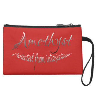 Amethyst Clucth Suede Wristlet