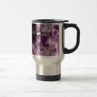 Amethyst Cluster Travel Mug