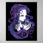 """Amethyst"" Crystal Ball Angel Art Poster"