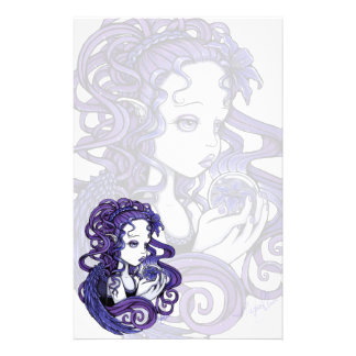 """Amethyst"" Crystal Ball Angel Art Stationery"