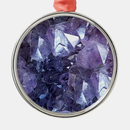 Amethyst Crystal Cluster Christmas Ornament