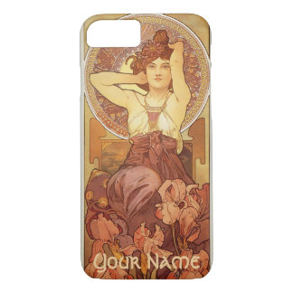 Amethyst Design by Mucha with Name iPhone 7 Case