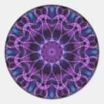 Amethyst Desire kaleidoscope Round Sticker