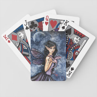 Amethyst Dragon Fairy Fantasy Art Bicycle Playing Cards