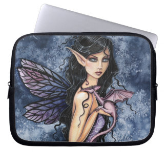 Amethyst Dragon Purple Fairy Fantasy Art Laptop Sleeve