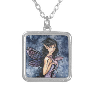 Amethyst Dragon Purple Fairy Fantasy Art Necklace