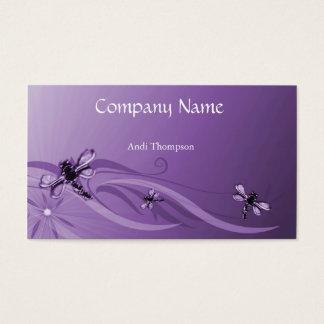 Amethyst Dragonflies Business Card