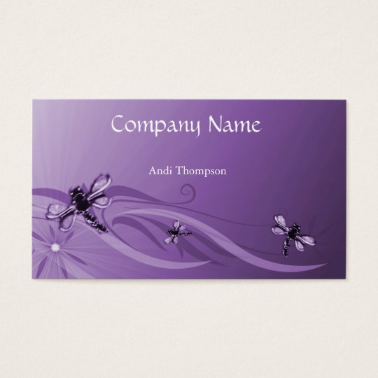 Amethyst Dragonflies Business Card