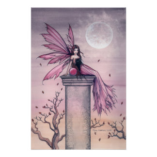 Amethyst Fairy Poster Print by Molly Harrison