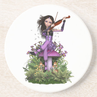 Amethyst Fairy ~ Sweet Melody Coaster