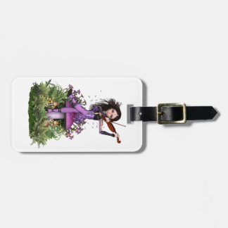Amethyst Fairy ~ Sweet Melody Luggage Tag