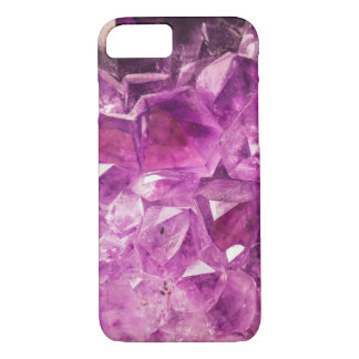 Amethyst faux geode crystal gemstone photo hipster iPhone 7 case
