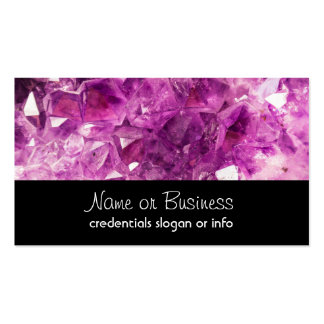 Amethyst Gemstone Image Shiny and Sparkly Double-Sided Standard Business Cards (Pack Of 100)