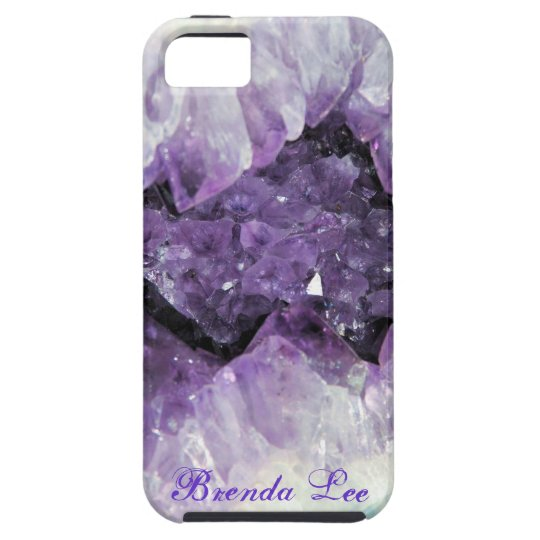Amethyst Geode 3D iPhone 5 case Personalise*