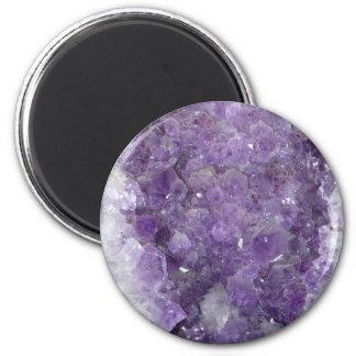 Amethyst Geode - Violet Crystal Gemstone 6 Cm Round Magnet