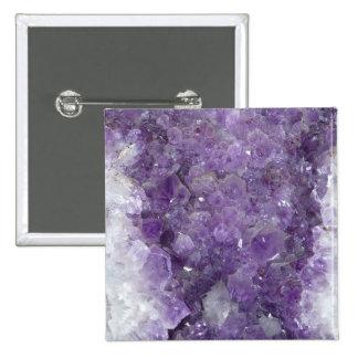 Amethyst Geode - Violet Crystal Gemstone Pin