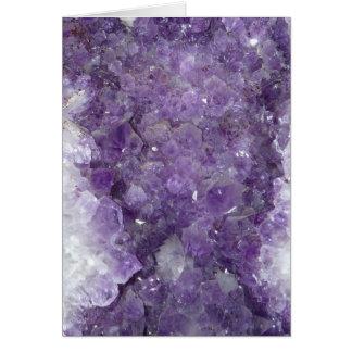 Amethyst Geode - Violet Crystal Gemstone Card