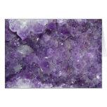 Amethyst Geode - Violet Crystal Gemstone Greeting Card