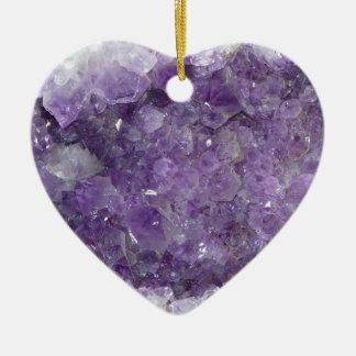 Amethyst Geode - Violet Crystal Gemstone Christmas Ornament