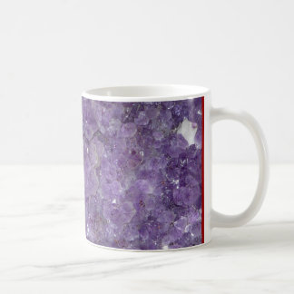 Amethyst Geode - Violet Crystal Gemstone Coffee Mug