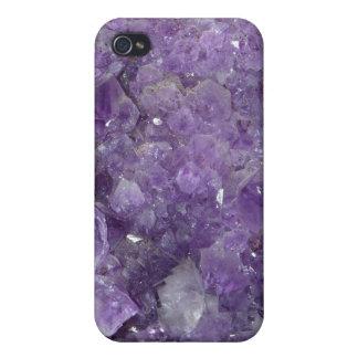 Amethyst Geode - Violet Crystal Gemstone iPhone 4/4S Cover