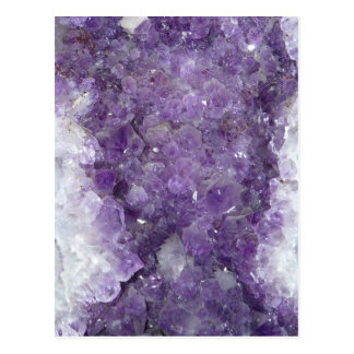 Amethyst Geode - Violet Crystal Gemstone Postcards