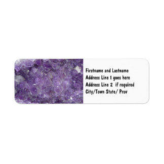 Amethyst Geode - Violet Crystal Gemstone Return Address Label