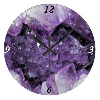 Amethyst Geode Wall Clock
