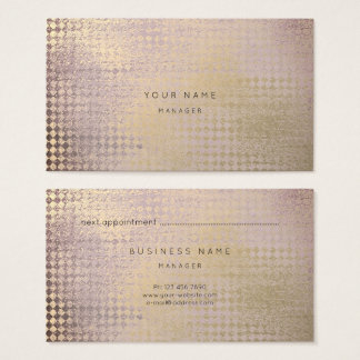 Amethyst Gold  Blush Diamond Cut Appointment Card