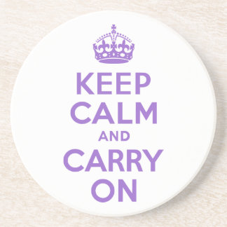 Amethyst Keep Calm and Carry On Drink Coaster