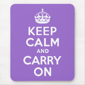 Amethyst Keep Calm and Carry On Mouse Mat